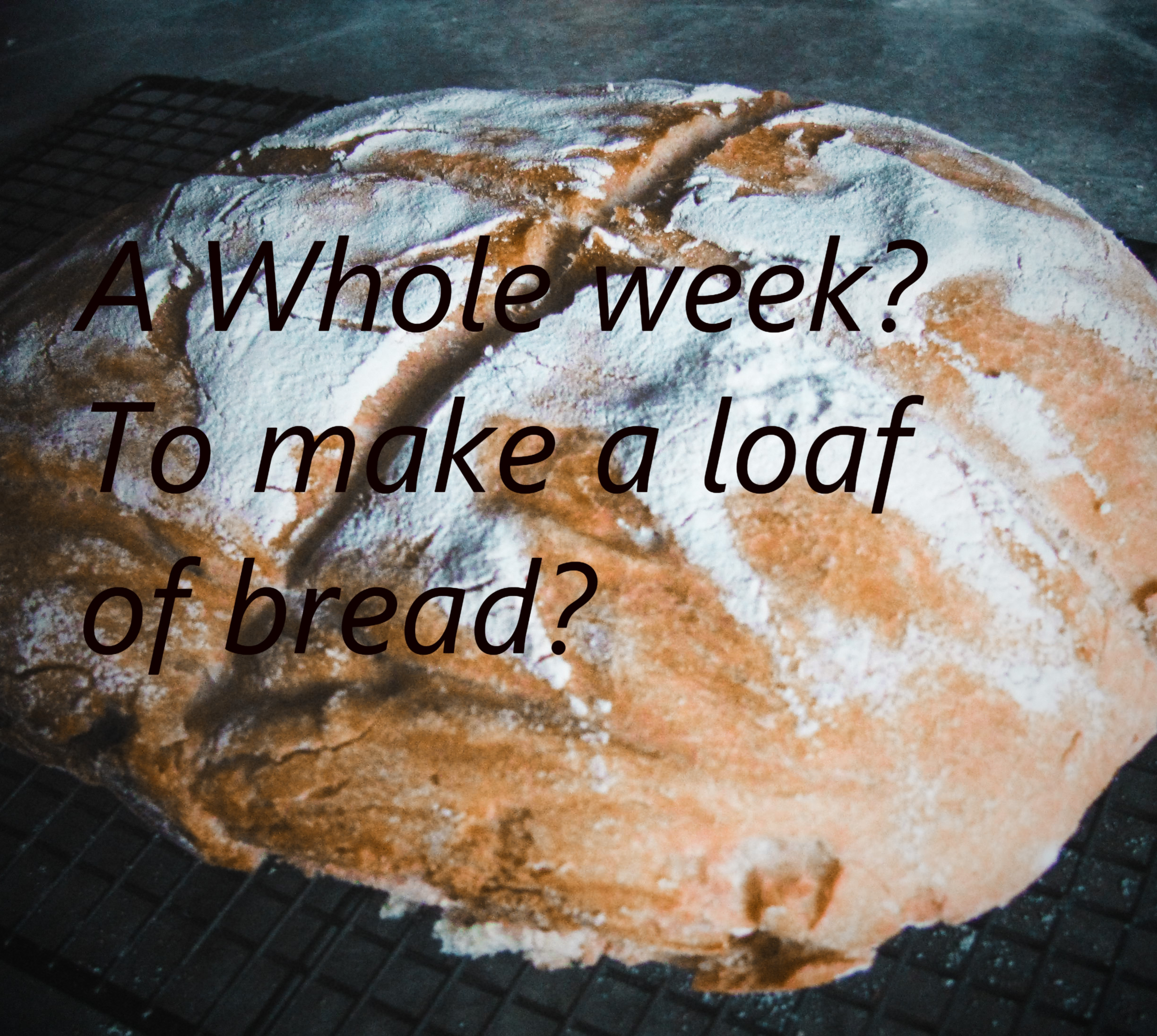 A Whole Week? To Make a Loaf of Bread?